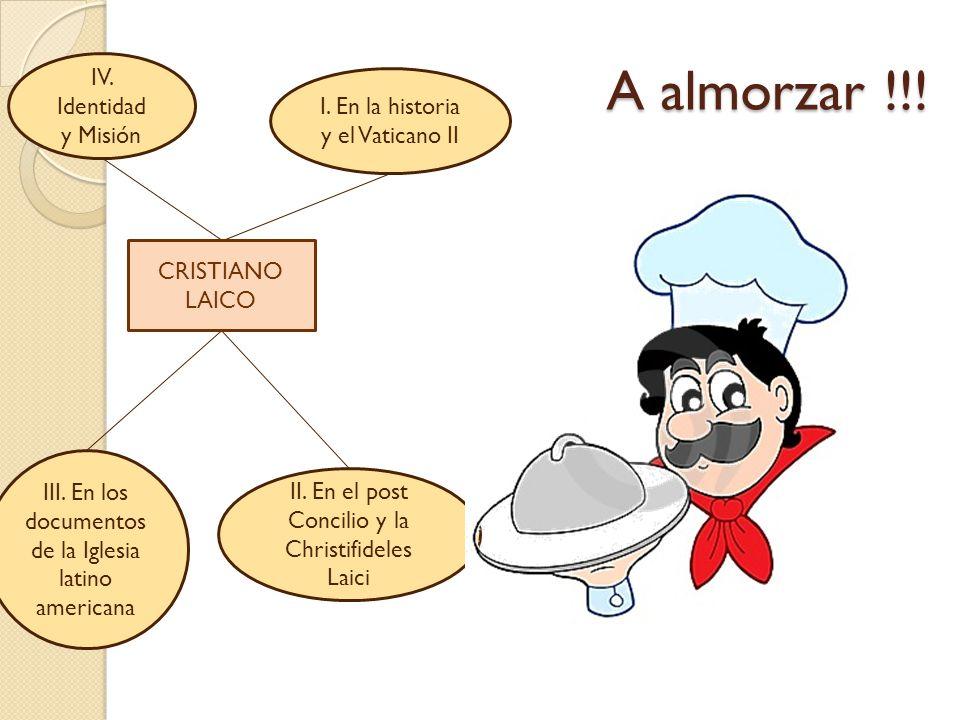 A almorzar !!! IV. Identidad I. En la historia y el Vaticano II
