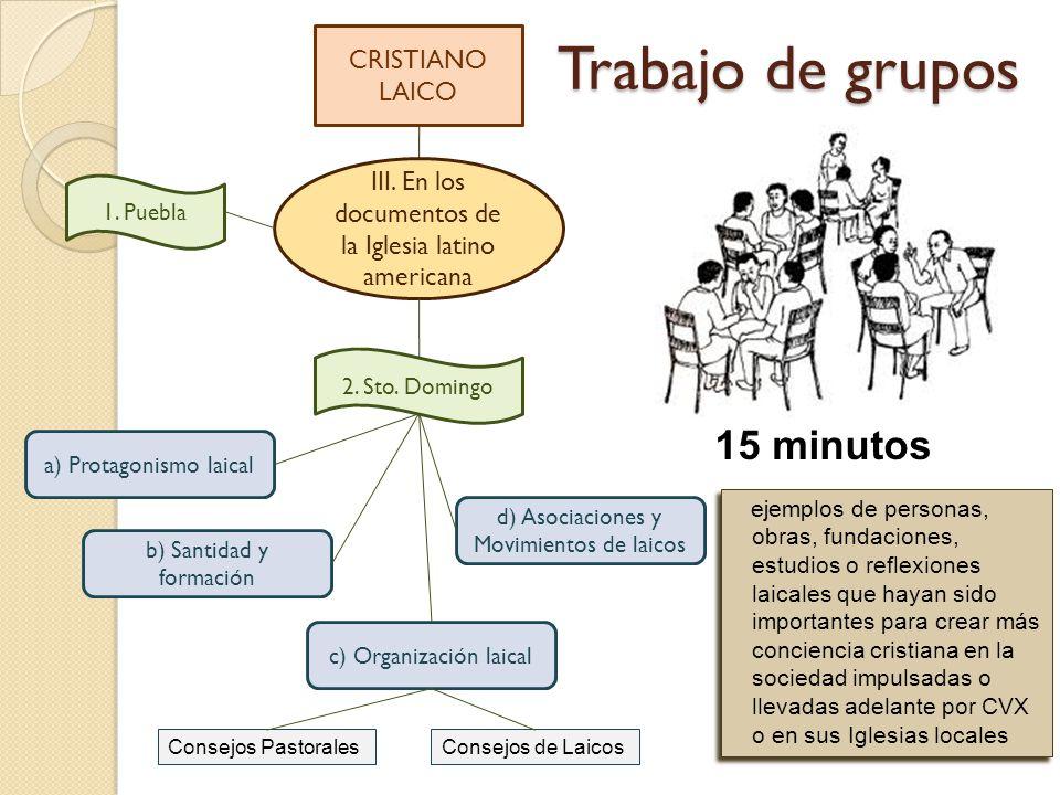 Trabajo de grupos 15 minutos CRISTIANO LAICO