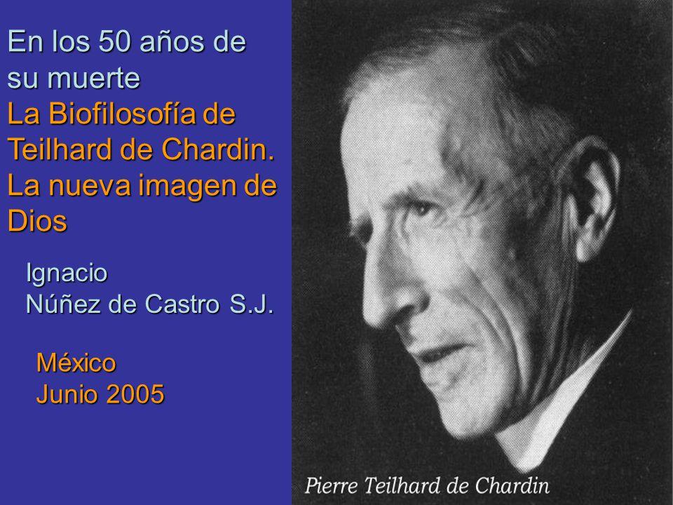 En los 50 años de su muerte La Biofilosofía de Teilhard de Chardin.