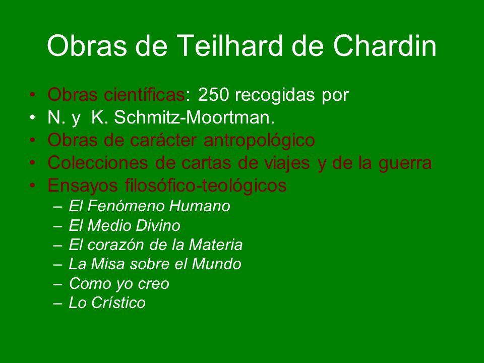 Obras de Teilhard de Chardin
