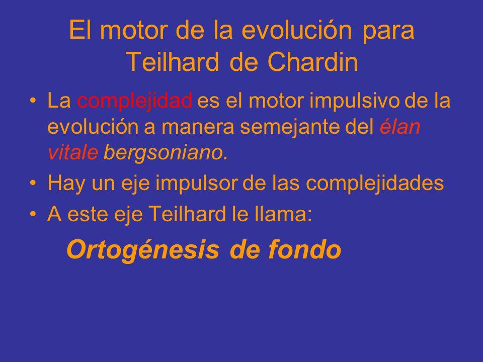 El motor de la evolución para Teilhard de Chardin