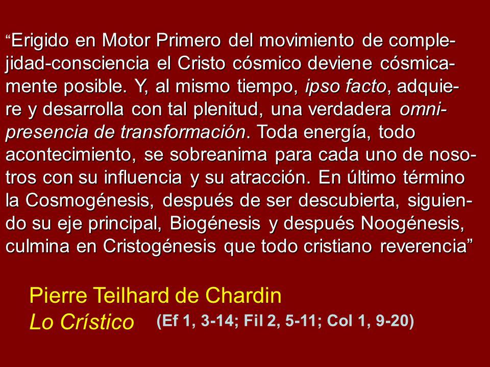 Pierre Teilhard de Chardin Lo Crístico