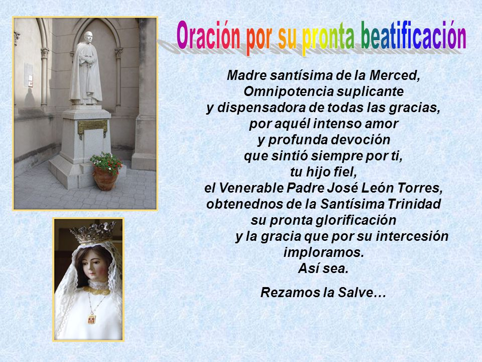 Oración por su pronta beatificación