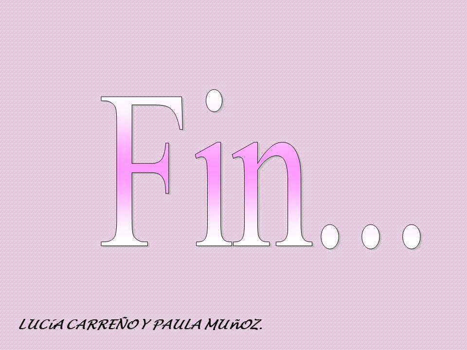 Fin... LUCíA CARREÑO Y PAULA MUñOZ.