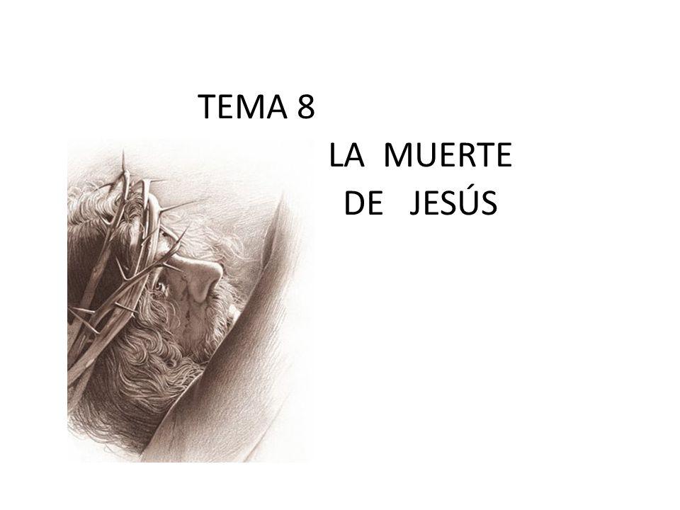 TEMA 8 LA MUERTE DE JESÚS Por: Ptr. Nic. Garza