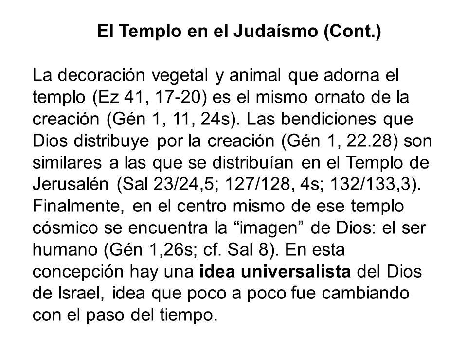 El Templo en el Judaísmo (Cont.)
