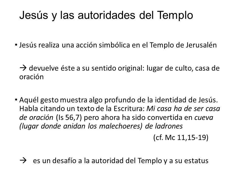 Jesús y las autoridades del Templo
