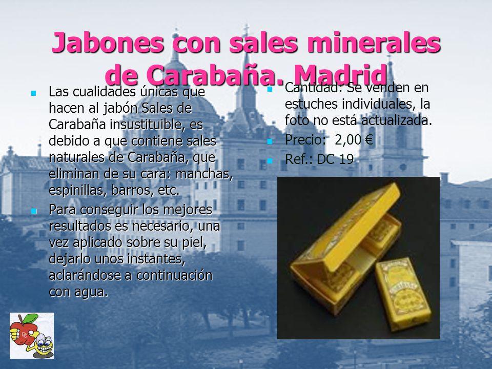 Jabones con sales minerales de Carabaña. Madrid