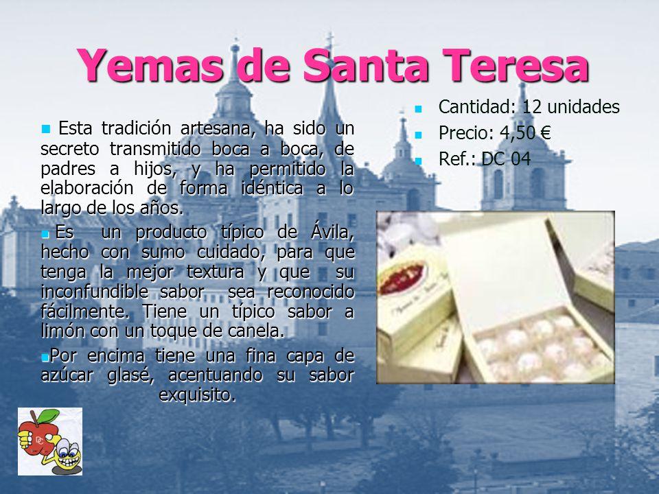 Yemas de Santa Teresa Cantidad: 12 unidades. Precio: 4,50 € Ref.: DC 04.