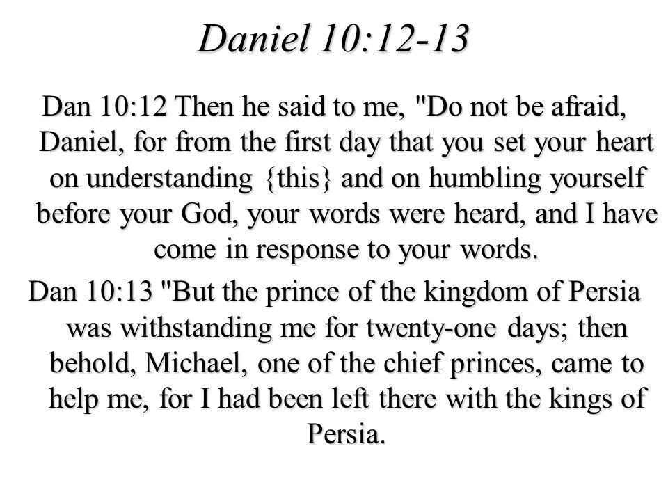 Daniel 10:12-13