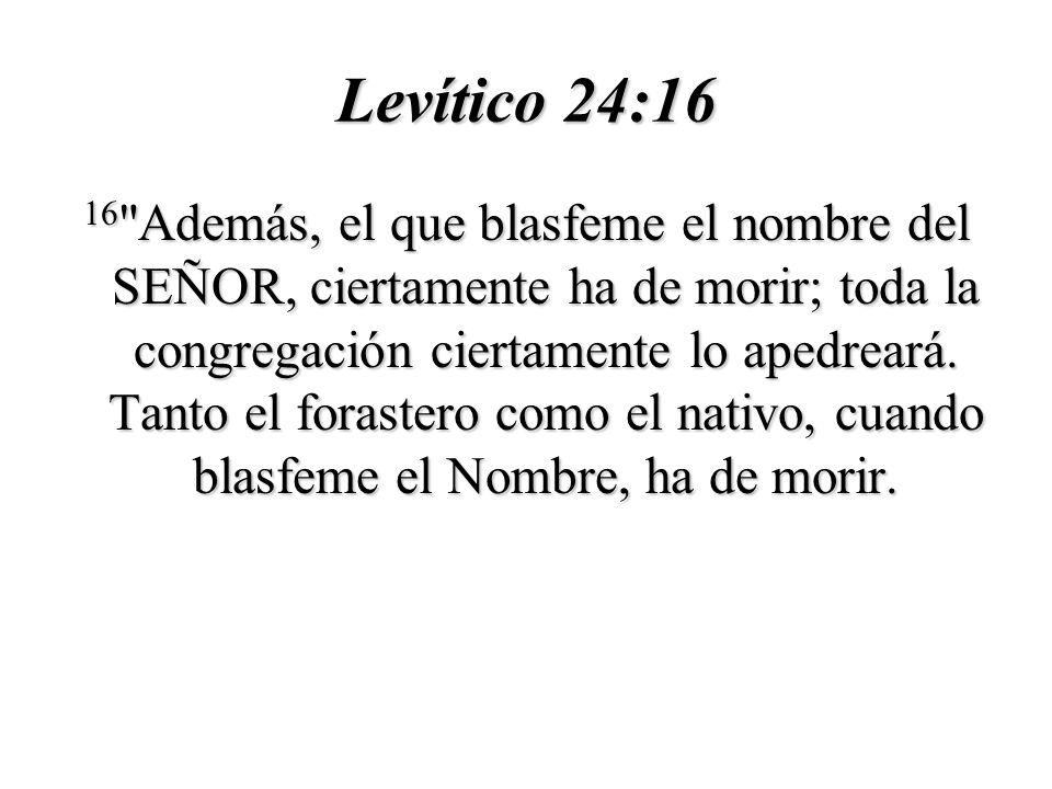 Levítico 24:16