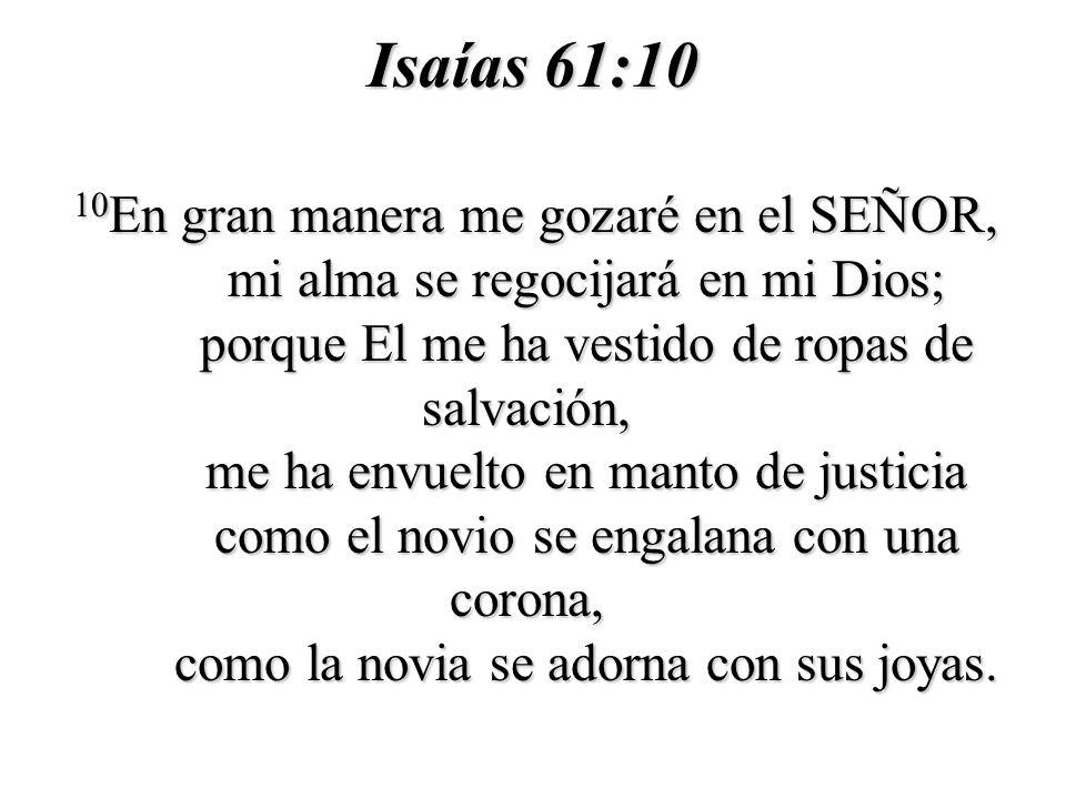 Isaías 61:10