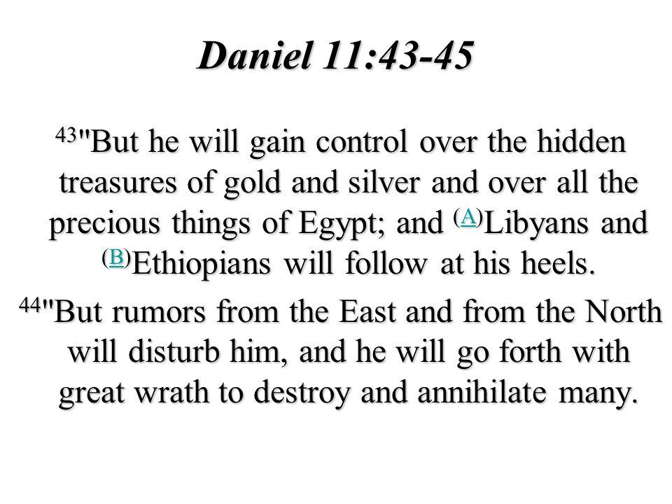 Daniel 11:43-45