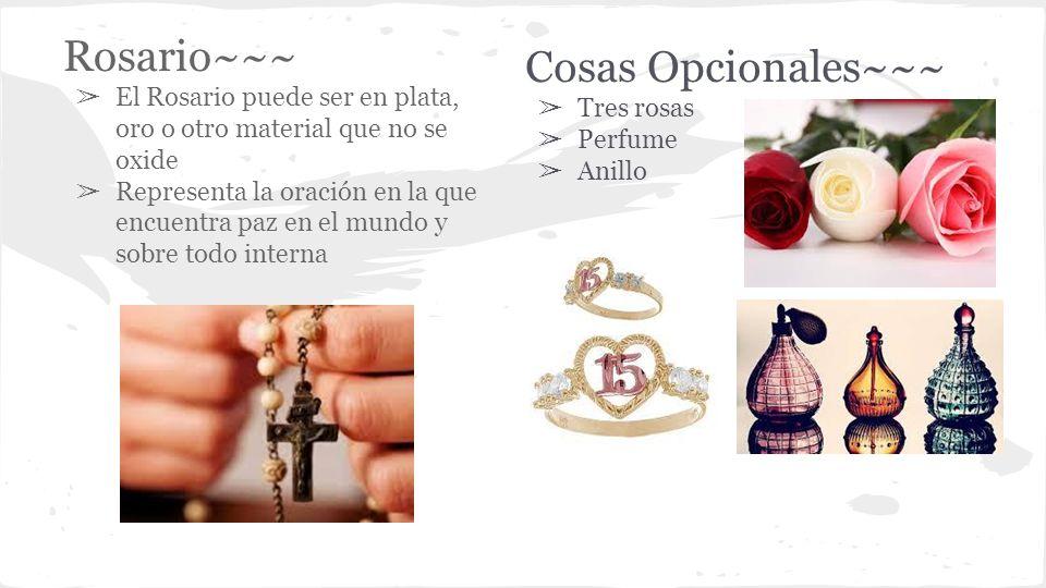 Rosario~~~ Cosas Opcionales~~~