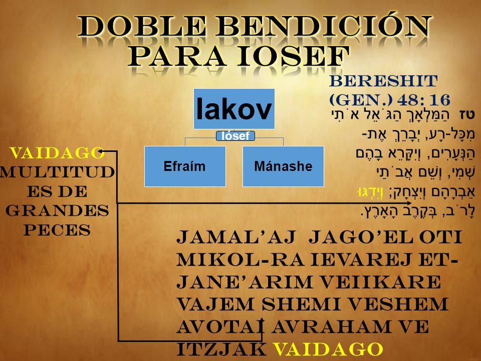 DOBLE BENDICIÓN PARA IOSEF