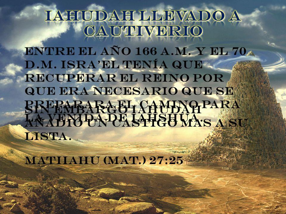 IAHUDAH LLEVADO A CAUTIVERIO