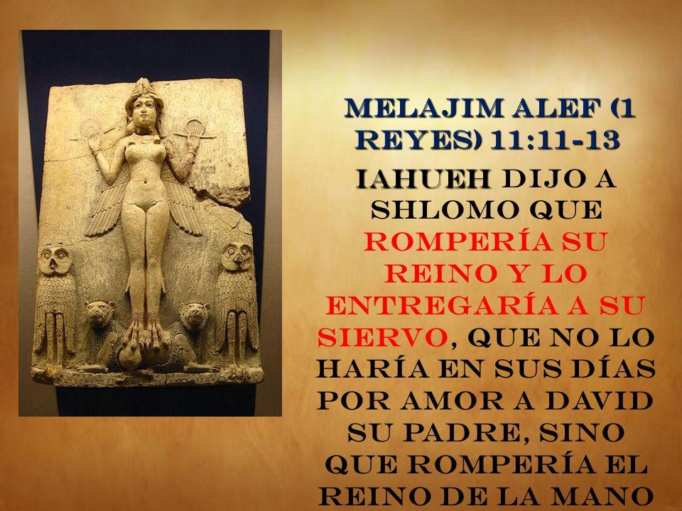 MELAJIM ALEF (1 REYES) 11:11-13
