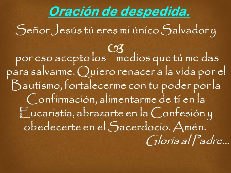 Señor Jesús tú eres mi único Salvador y
