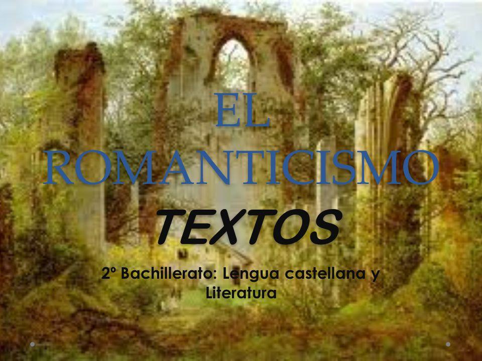 EL ROMANTICISMO TEXTOS