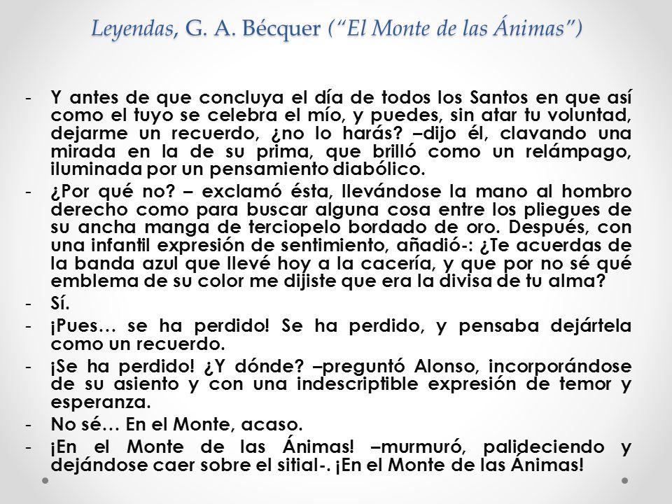 Leyendas, G. A. Bécquer ( El Monte de las Ánimas )