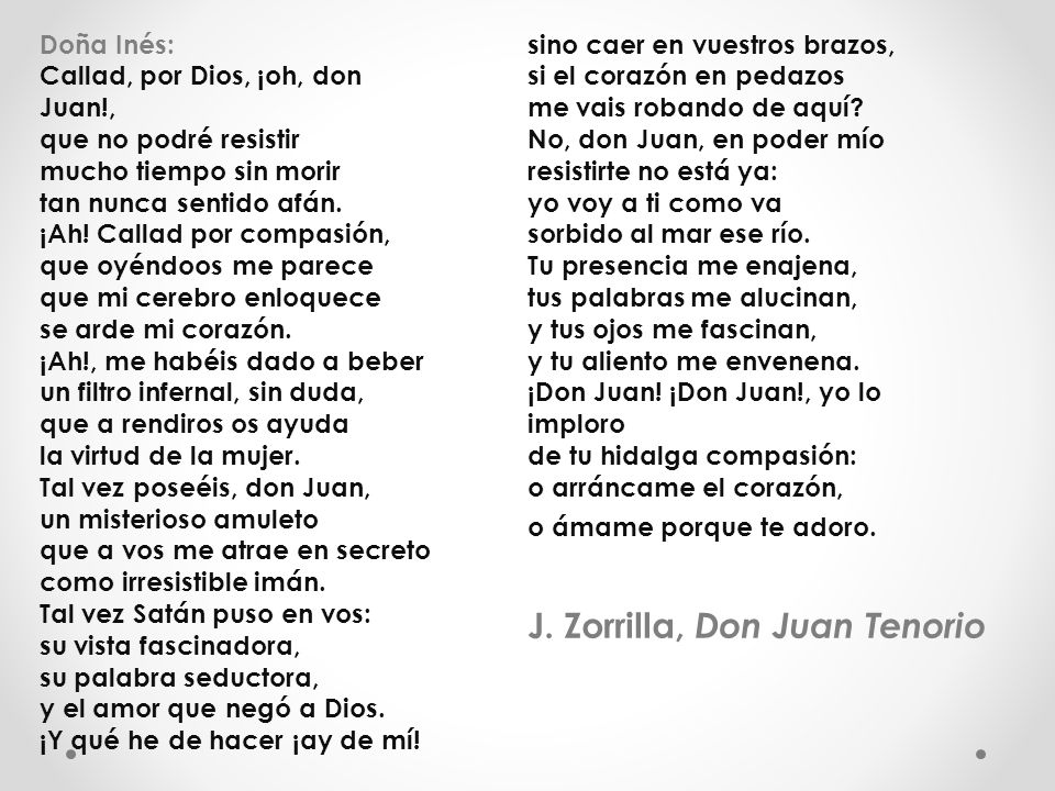 J. Zorrilla, Don Juan Tenorio