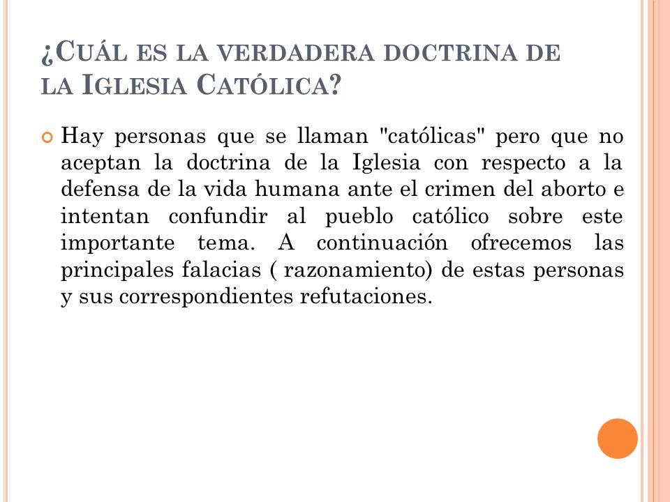 ¿Cuál es la verdadera doctrina de la Iglesia Católica