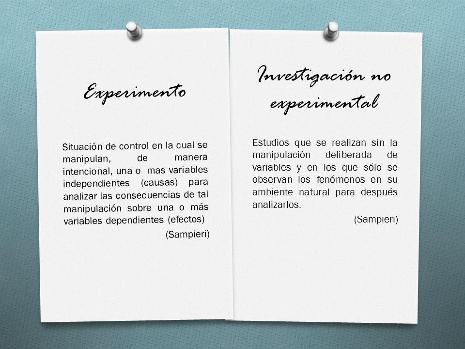 Investigación no experimental