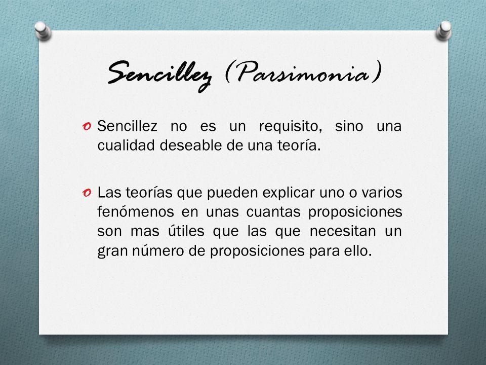 Sencillez (Parsimonia)