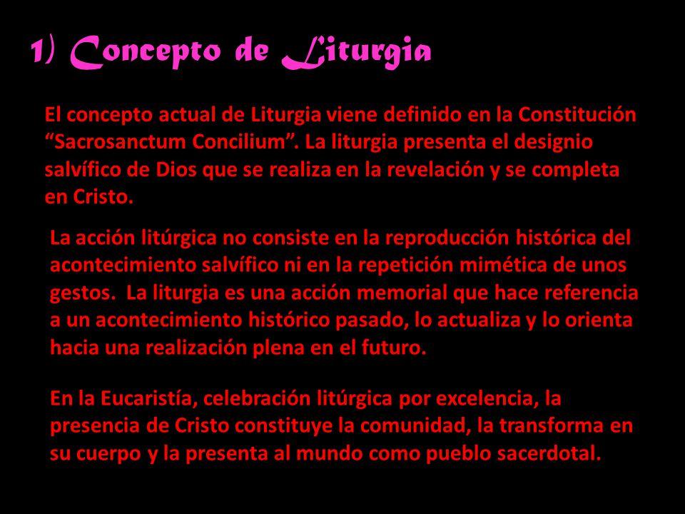 1) Concepto de Liturgia