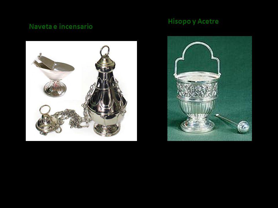 Hisopo y Acetre Naveta e incensario