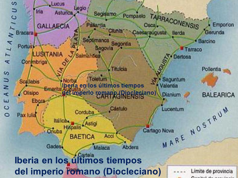 Iberia en los últimos tiempos del imperio romano (Diocleciano)