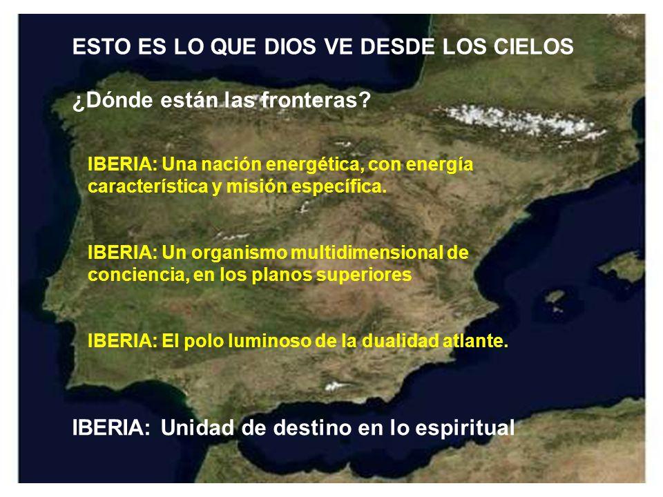 ESTO ES LO QUE DIOS VE DESDE LOS CIELOS ¿Dónde están las fronteras