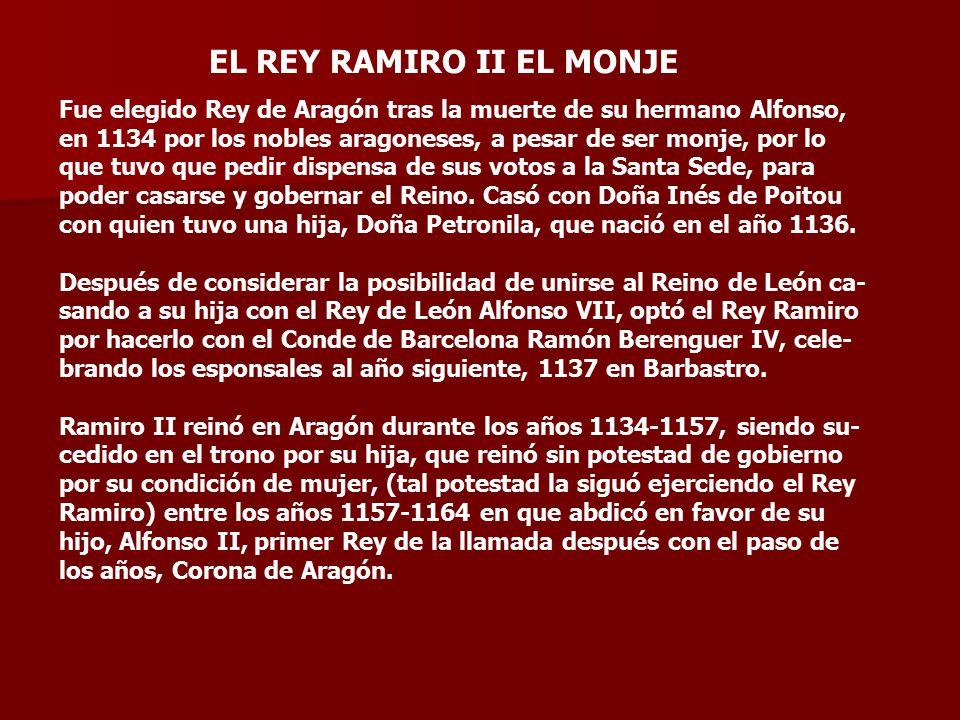 EL REY RAMIRO II EL MONJE