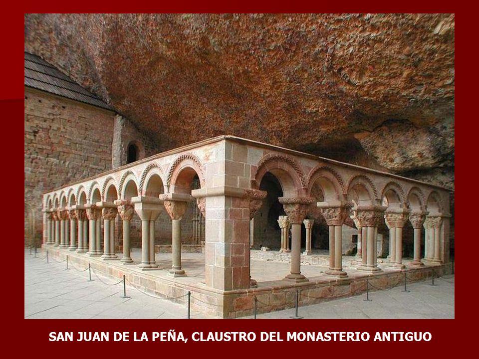 SAN JUAN DE LA PEÑA, CLAUSTRO DEL MONASTERIO ANTIGUO