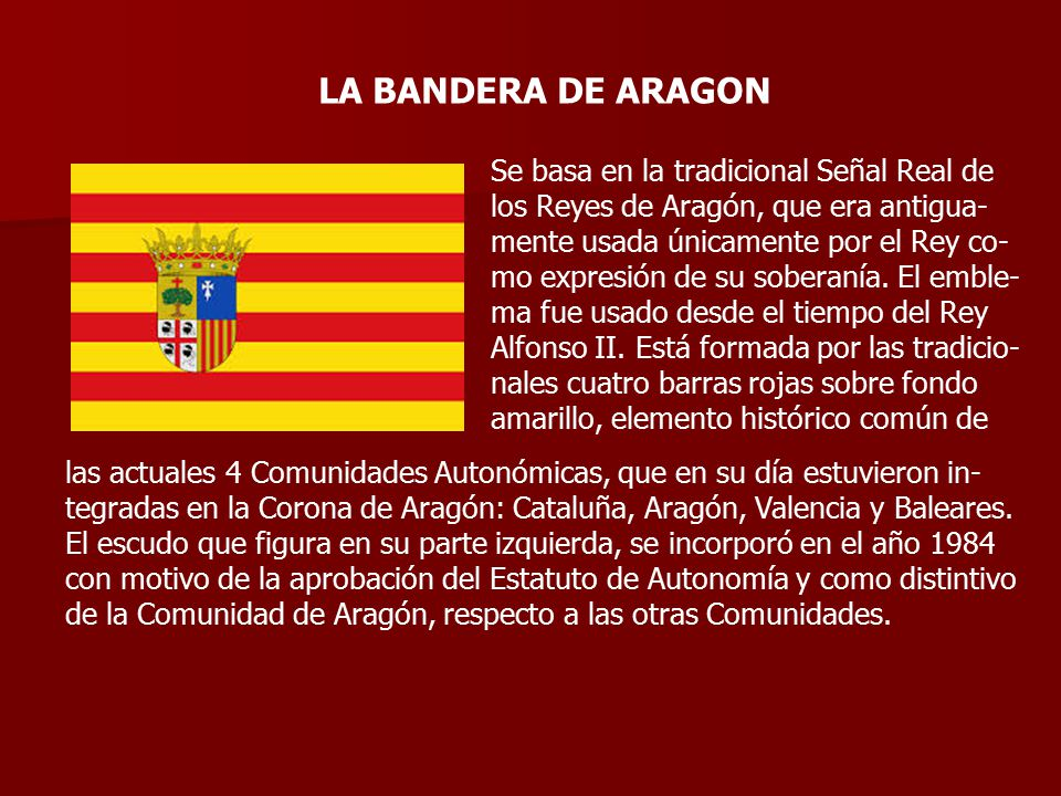 LA BANDERA DE ARAGON