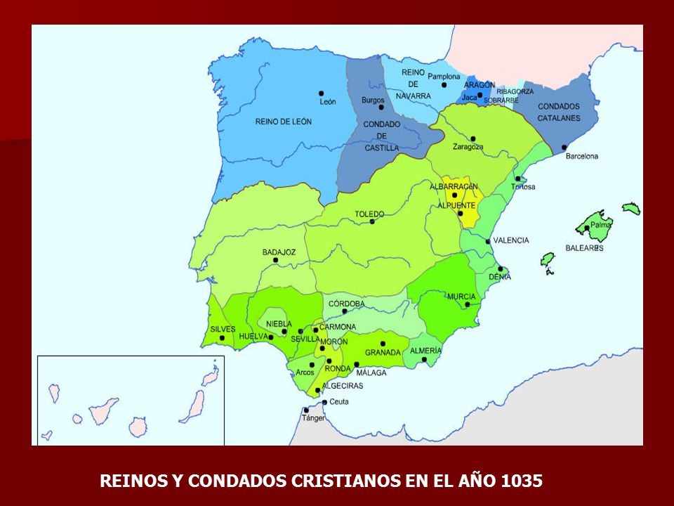 REINOS Y CONDADOS CRISTIANOS EN EL AÑO 1035
