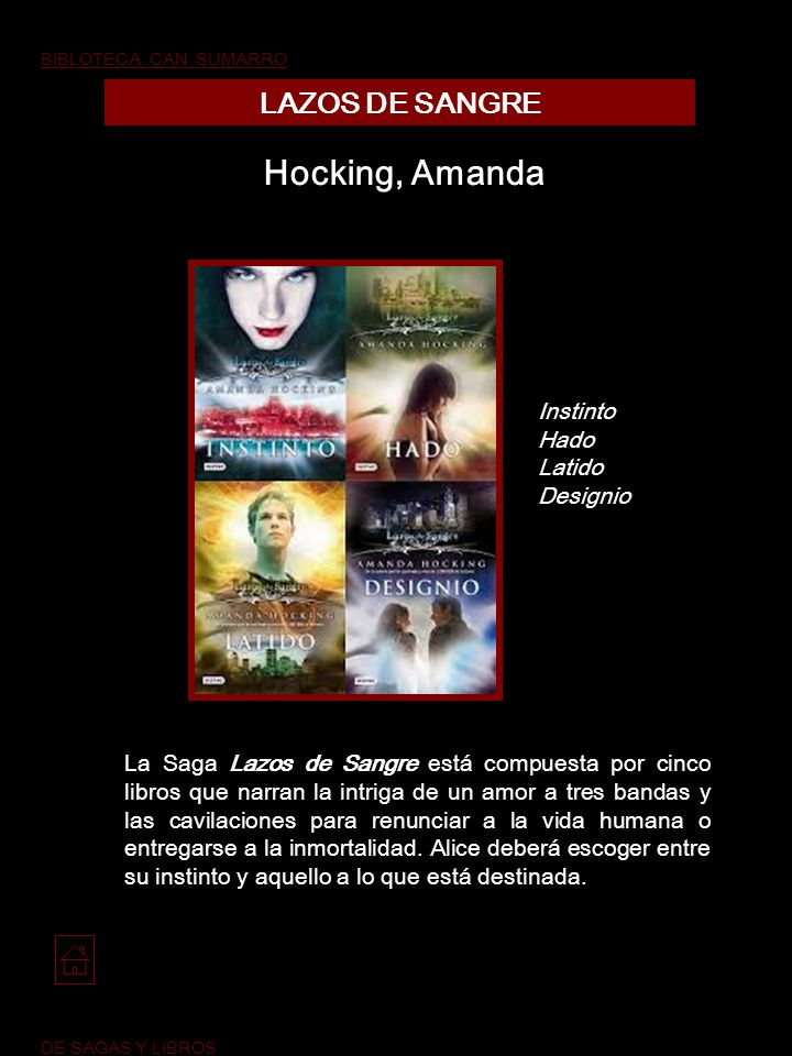 Hocking, Amanda LAZOS DE SANGRE Instinto Hado Latido Designio