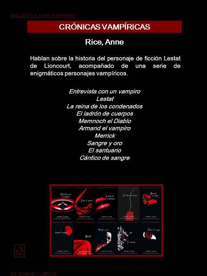 CRÓNICAS VAMPÍRICAS Rice, Anne
