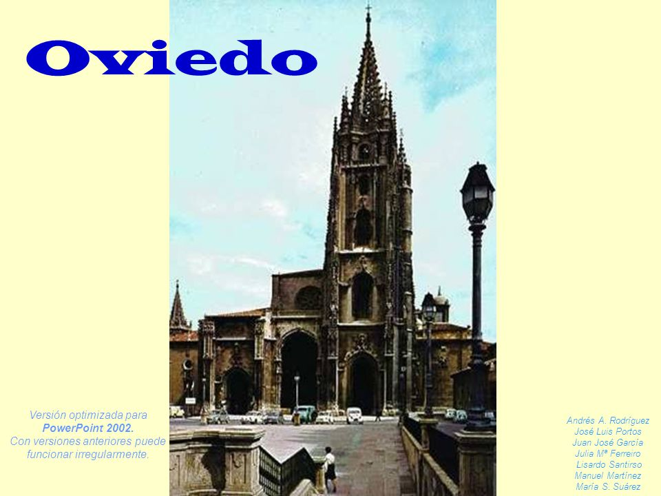 Oviedo Versión optimizada para PowerPoint 2002.