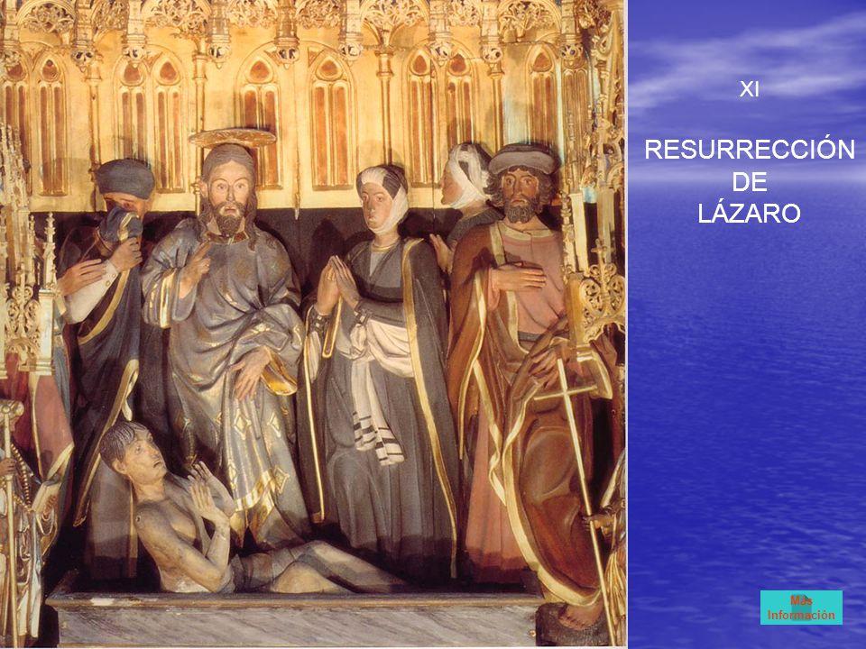 XI RESURRECCIÓN DE LÁZARO Más Información