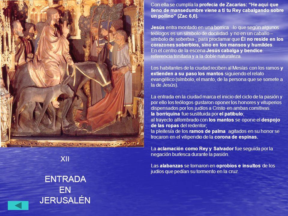 ENTRADA EN JERUSALÉN XII
