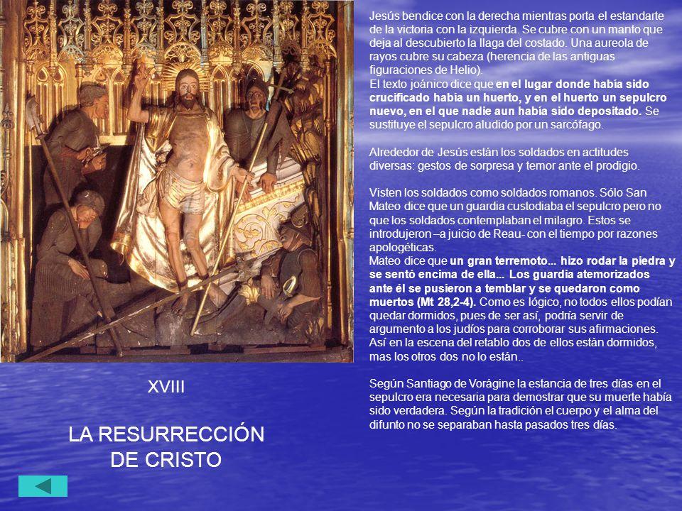 LA RESURRECCIÓN DE CRISTO XVIII