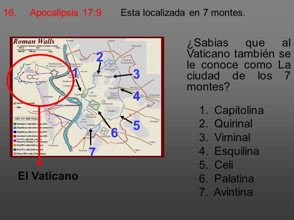 2 1 3 4 5 6 7 Capitolina Quirinal Viminal Esquilina Celi Palatina