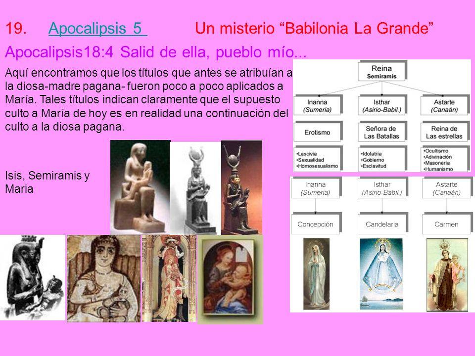 Apocalipsis 5 Un misterio Babilonia La Grande