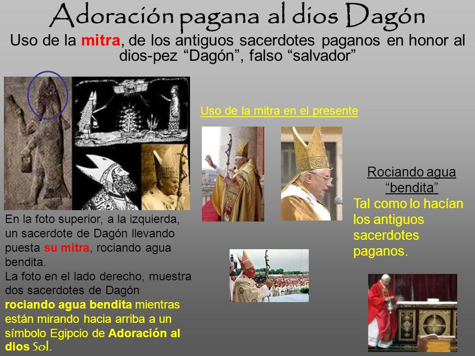Adoración pagana al dios Dagón