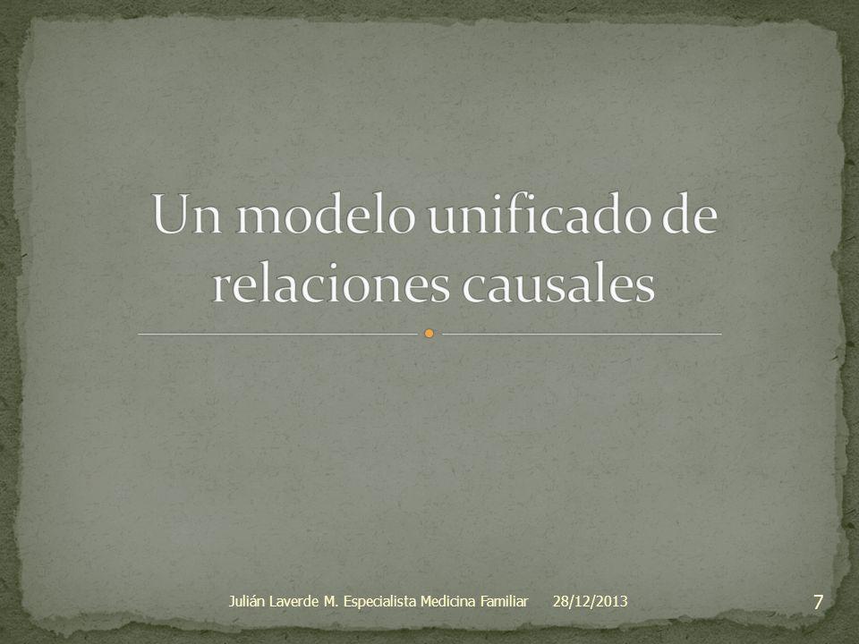 Un modelo unificado de relaciones causales