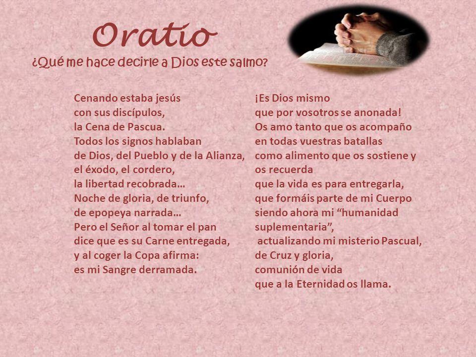 Oratio ¿Qué me hace decirle a Dios este salmo