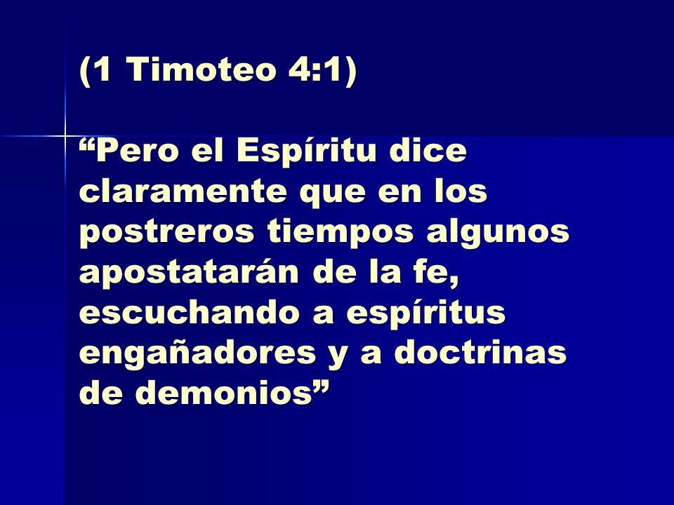 (1 Timoteo 4:1)