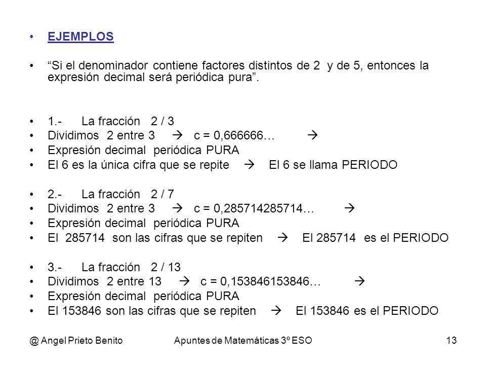 Apuntes de Matemáticas 3º ESO
