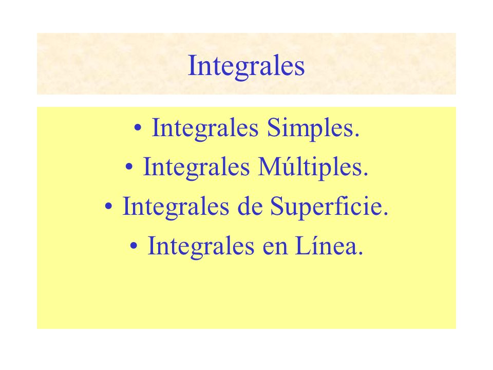 Integrales de Superficie.